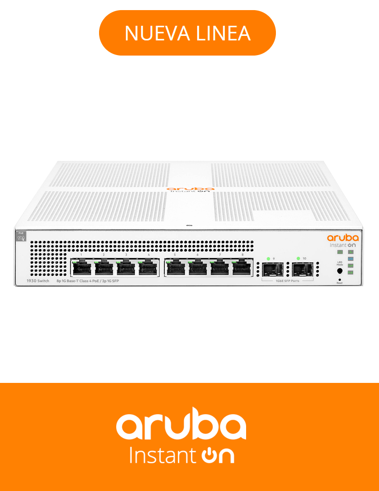 SWITCH ARUBA 1930 8G 2SFP POE+ 124W